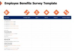 Employee Benefits Survey Template Financial Ppt Powerpoint Presentation Ideas Shapes