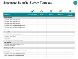 Employee Benefits Survey Template Ppt Powerpoint Presentation Visuals