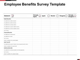 Employee Benefits Survey Template Statement Ppt Powerpoint Presentation Ideas