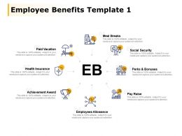 Employee Benefits Template Achievement Award Health Insurance Ppt Powerpoint Presentation File Images
