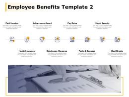 Employee Benefits Template Achievement Award Social Security Ppt Powerpoint Presentation File Information