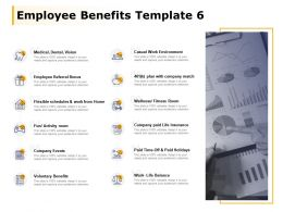 Employee Benefits Template Company Events Employee Referral Bonus Ppt Powerpoint Presentation File Microsoft