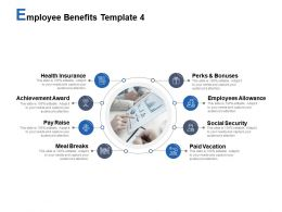 Employee Benefits Template Employees Allowance Achievement Award Ppt Powerpoint Presentation Styles Show