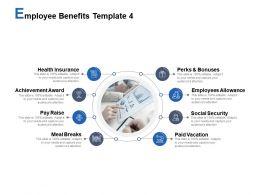 Employee Benefits Template Employees Allowance Achievement Award Ppt Powerpoint Presentation Styles Show