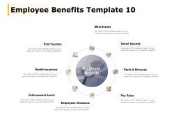 Employee Benefits Template Employees Allowance Health Insurance Ppt Powerpoint Presentation File Shapes