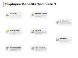 Employee Benefits Template Employees Allowance Meal Breaks Ppt Powerpoint Presentation File Show