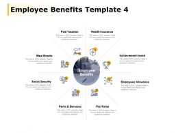 Employee Benefits Template Employees Allowance Paid Vacation Ppt Powerpoint Presentation File Slide