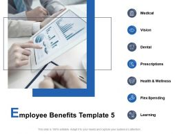 Employee Benefits Template Health And Wellness Vision Ppt Powerpoint Presentation Styles Samples