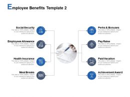 Employee Benefits Template Health Insurance Social Security Ppt Powerpoint Presentation Styles Guidelines