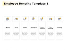 Employee Benefits Template Learning Vision Medical Ppt Powerpoint Presentation File Templates