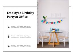 Employee Birthday Party At Office