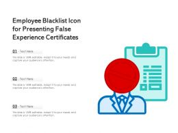 Employee Blacklist Icon For Presenting False Experience Certificates