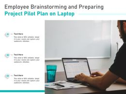 Employee Brainstorming And Preparing Project Pilot Plan On Laptop