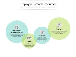 Employee Brand Resources Ppt Powerpoint Presentation Model Format Ideas Cpb