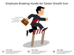 Employee Breaking Hurdle For Career Growth Icon