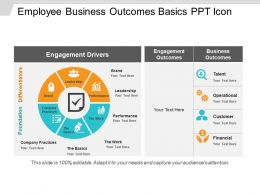Employee Business Outcomes Basics Ppt Icon