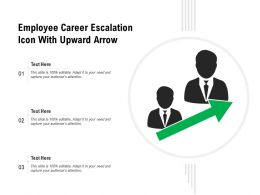Employee Career Escalation Icon With Upward Arrow