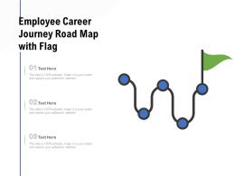 Employee Career Journey Road Map With Flag