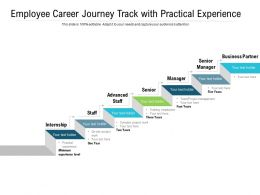 Employee Career Journey Track With Practical Experience