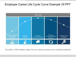 Employee Career Life Cycle Curve Example Of Ppt