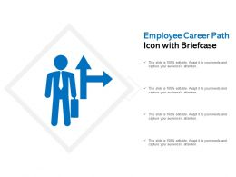 Employee Career Path Icon With Briefcase