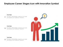 Employee Career Stages Icon With Innovation Symbol