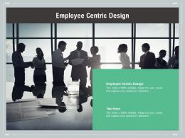 Employee Centric Design Ppt Powerpoint Presentation Show Graphics Design Cpb