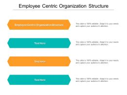 Employee Centric Organization Structure Ppt Powerpoint Presentation Model Demonstration Cpb