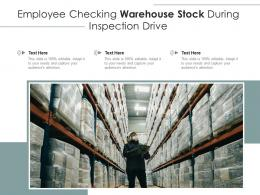 Employee Checking Warehouse Stock During Inspection Drive