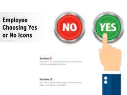 Employee Choosing Yes Or No Icons