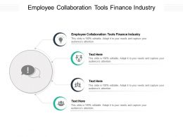 Employee Collaboration Tools Finance Industry Ppt Powerpoint Presentation Ideas Background Cpb