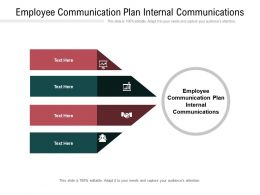 Employee Communication Plan Internal Communications Ppt Powerpoint Presentation Cpb