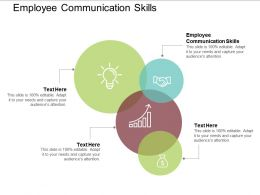 Employee Communication Skills Ppt Powerpoint Presentation Slides Cpb