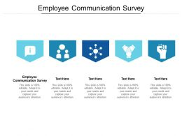 Employee Communication Survey Ppt Powerpoint Presentation Outline Maker Cpb