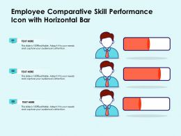 Employee Comparative Skill Performance Icon With Horizontal Bar