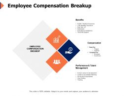 Employee Compensation Breakup Human Resource Ppt Powerpoint Presentation Ideas