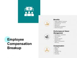 Employee Compensation Breakup Ppt Powerpoint Presentation Summary
