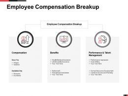 Employee Compensation Breakup Talent Management Ppt Powerpoint Presentation