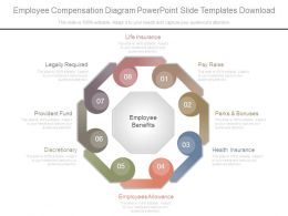 Employee Compensation Diagram Powerpoint Slide Templates Download