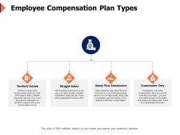 Employee Compensation Plan Types Commision Ppt Powerpoint Presentation Graphic