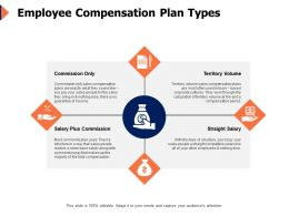 Employee Compensation Plan Types Percentage Ppt Powerpoint Presentation Infographics