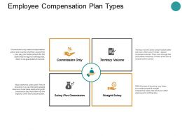 Employee Compensation Plan Types Ppt Powerpoint Presentation Styles