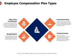 Employee Compensation Plan Types Volume Ppt Powerpoint Presentation Icon Portfolio