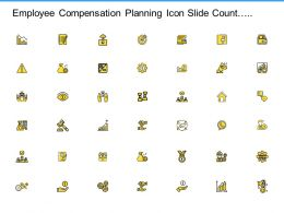 Employee Compensation Planning Icon Slide Count Growth Ppt Powerpoint Presentation Slide