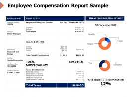 Employee Compensation Report Sample Benefits Ppt Powerpoint Presentation Designs