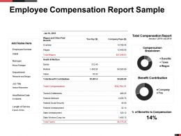 Employee Compensation Report Sample Breakdown Powerpoint Presentation Example
