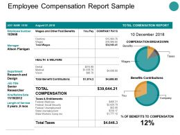Employee Compensation Report Sample Ppt Powerpoint Presentation Ideas