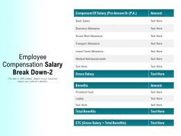 Employee Compensation Salary Break Down 2