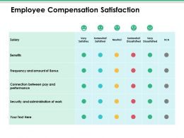 Employee Compensation Satisfaction Ppt Infographic Template Summary