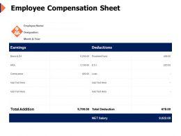 Employee Compensation Sheet Management Ppt Powerpoint Presentation Template